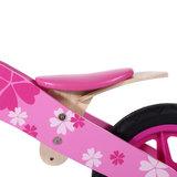 Houten loopfiets in roze 12 inch Pink Flower_
