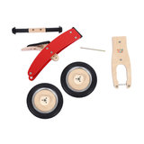 Houten loopfiets in rood 10 inch Chopper_