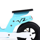 Houten loopfiets in blauw 10 inch Scooter_