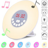 LED-lichtalarm, wekker, alarmklok, digitale wekker, Radiowekker Zonsopkomst_