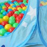 Kinderspeeltent met 100 ballen - voor binnen en buiten - inclusief draagtas - Blauw_