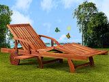 Tuinbank Ligbank ligstoel ligbed Relaxbank Hardhout Incl. Tafel  Tama Sun_