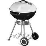 Kogelbarbecue, BBQ, houtskool, grill, op wielen _