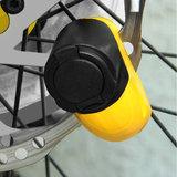 Schijfremslot van staal voor motor of fiets, sleutel met LED-verlichting, herinneringskabel_