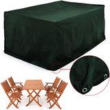 Afdekhoes voor tuinset tafel met 4 stoelen, weers- en scheurvast, groen_