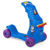 2 in 1 loopauto en step in blauw_