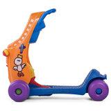 2 in 1 loopauto en step in oranje_