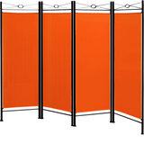 Kamerscheidingswand, kamerscherm, ruimteverdeler, oranje, scheidingswand_