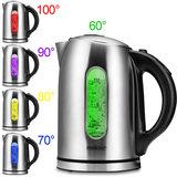 Waterkoker, RVS, 1.7 liter, met LED verlichting, 5 temperaturen instelbaar _