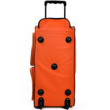 Trolley, reistas, oranje, afsluitbaar, met slot, 85 liter, roltas_