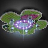 Bloemrijke kinderlamp, plafondlamp met sluimerlicht_