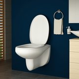 Keramisch hangtoilet, wc, hangend toilet inclusief wc bril met soft close_