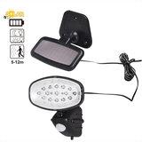 Solar buitenlamp, LED buitenverlichting, verlichting op zonne-energie, oplaadbaar, bewegingsmelder_