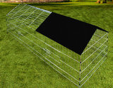 Konijnen ren, knaagdieren ren, 180 x 75, zwarte zonwering_