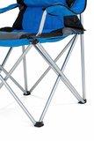 Campingstoel, vouwstoel, festivalstoel, klapstoel, blauw, met bekerhouder, opbergtas_