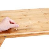 Laptoptafel , bedtafel, inklapbaar, bamboehout_
