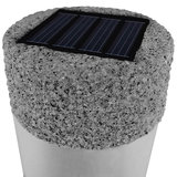 Solar tuinverlichting, set van 4, tuinsokkel, LED, steenlook_