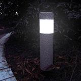 Solar tuinverlichting, set van 8, tuinsokkel, LED, steenlook_