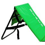 Strandmat met rugleuning, groen, strand bed, ligbed_