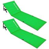 Set strandmatten groen, 2x met rugleuning, strand bed, ligbed_
