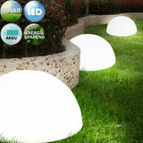 Solar lichtbol halfrond, set van 3, buitenverlichting, tuinverlichting, lichtbollen, solar wandverlichting_