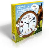 Klok met dieren geluiden, wandklok, kinderklok, dierenklok_