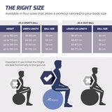 Yogabal Roze 55 cm, Trainingsbal, Pilates, gymbal_