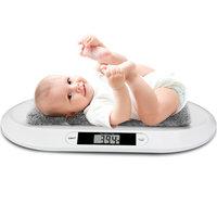 Babyweegschaal, elektrische weegschaal voor baby's, tot 20kg, LED-display, ook geschikt voor kleine dieren