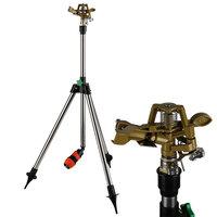 Gazonsproeier met standaard, Impulssproeier, tuinsproeier met telescopische standaard