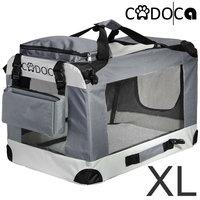 Opvouwbare honden transportbox grijs, maat XL