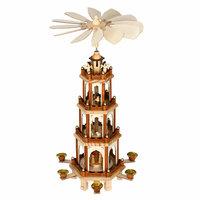 Kerstpiramide uit hout 60 cm, kerstdecoratie
