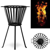 Vuurkorf, vuurmand, driepotige voet, staal
