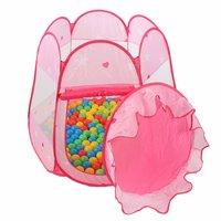 Kinderspeeltent met 100 ballen - voor binnen en buiten - inclusief draagtas - Roze