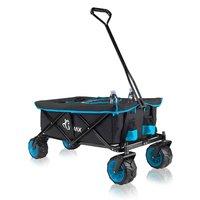 Bolderkar met afdekhoes, transportkar, opvouwbaar, zwart blauw, offroad
