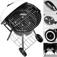 Kogelbarbecue, BBQ, houtskool, grill, op wielen