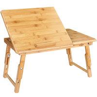 Laptoptafel , bedtafel, inklapbaar, bamboehout