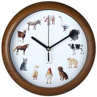 Klok met dieren geluiden, wandklok, kinderklok, dierenklok