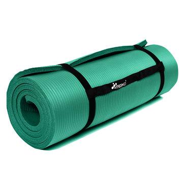 Yoga mat groen 1 cm dik, fitnessmat, pilates, aerobics