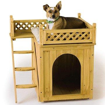 Hondenhok met extra verdieping