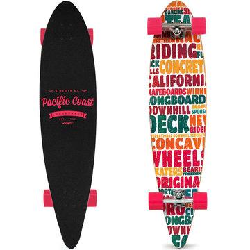 Longboard, skateboard California 112 cm , roze, 44 Inch