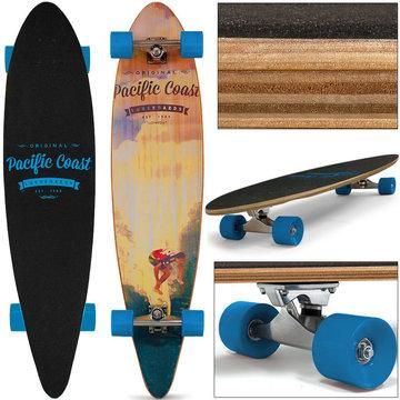 Longboard, skateboard Surfer 112 cm , lichtblauw, 44 Inch