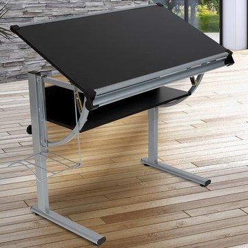 Kinder tekentafel zwart, schrijftafel, bureau