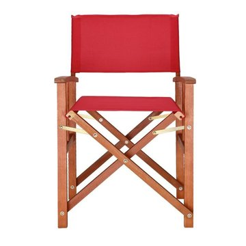 Regisseursstoel, klapstoel, vouwstoel, rood, duurzaam, eucalyptushout, waterafstotend stof, klapstoel