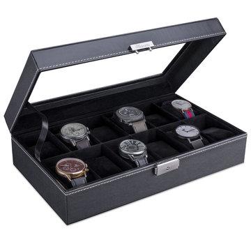 Horlogebox, horlogedoos, opberger voor 12 horloges
