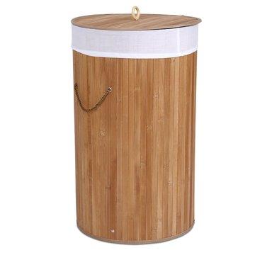 Waskorf Naturel, 57 liter, rond, wasbox, bamboe, wasmand