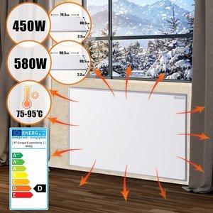 Elektrische verwarming, infrarood verwarming, paneelverwarming, verwarmingsplaat, 450 watt, stofvrij, warmtepaneel