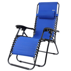 ''Tweede kans artikel'' Luxe inklapbare ligstoel, blauw