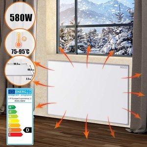 Elektrische verwarming, infrarood verwarming, paneelverwarming, verwarmingsplaat, 580 watt, stofvrij, warmtepaneel