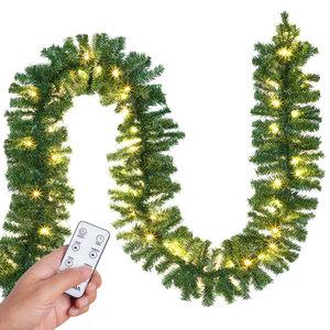 Kerstslinger, 100 LED's, 5 meter, met decoratie, voor binnen & buiten, met afstandsbediening