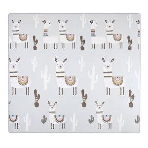 Dubbelzijdige speelmat alpaca en auto 200 x 180 cm